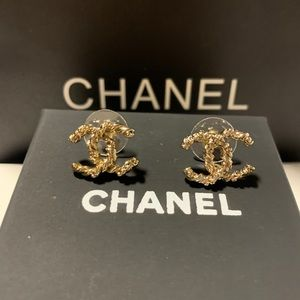 Authentic Chanel Gold Vintage Earrings
